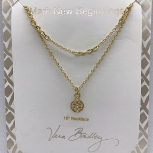 Vera Bradley Mark New Beginning Gold Tone Necklace